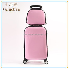 New Girl Lightweight Fashion pink pu backpack switzerland/hand luggage trolley/business suits for women