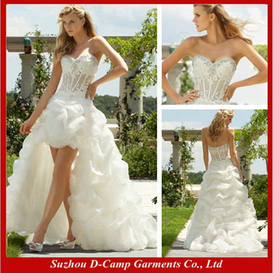 Wd 0696 new arrival high low hem sexy see through corset for See through corset wedding dresses