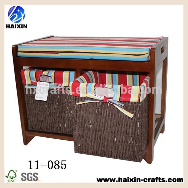 спальня наsparco подушки сиденья сундук индийский скамейке с 2 корзинами