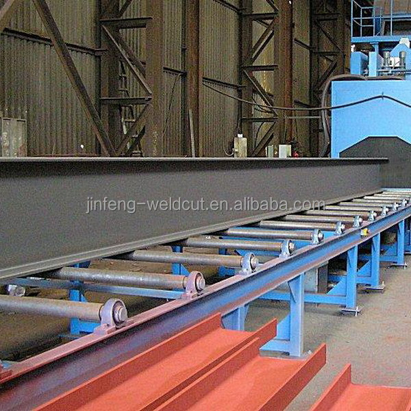 Production line H beam shot blasting machine