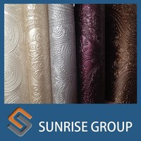 pvc leather for car seat , pu leather pvc leather stocklot