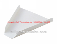Disposable paper pizza slice tray