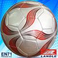 Tamaño oficial 5 fútbol de promoción de cuero PVC cosido por máquina