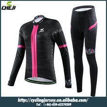 Cheji nero a cavallo vestiti per le donne nell'autunno del la mountain bike tuta giacca bicicletta giacca pantaloni