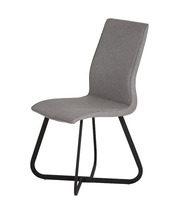 New design metal cross legs fabric cover dining chair
