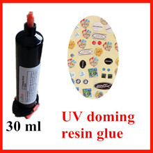UV-9630 UV curable doming resin with crystal clear and rigid smooth surface