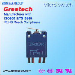0.5A/5A 250V types of t85 wire leads waterproof micro switch
