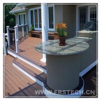 140*23mm eco friend deck tiles hot sale wood plastic wpc decking floor UV resistant wpc decking