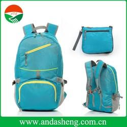 2015 alibaba china 210D nylon foldable eco fashion backpack