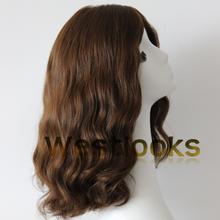 Affordable Multidirectional Human Virgin Hair Wavy Jewish Wig