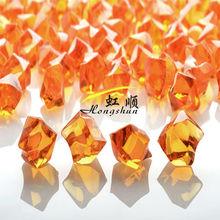 Orange colored gemstones acrylic ice cubes for wedding decoration