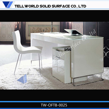 High End Fancy Office Furniture L Shaped White Marble Executive Modern Office Desk