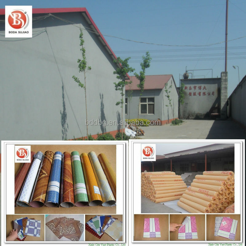 Durable felt backing wood plastic PVC flooring 100% vinyl