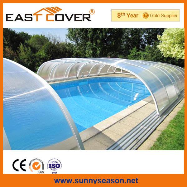 Aluminum Swimming Pool Cover Enclosures Buy Telescopic Pool Enclosures Polycarbonate Swimming