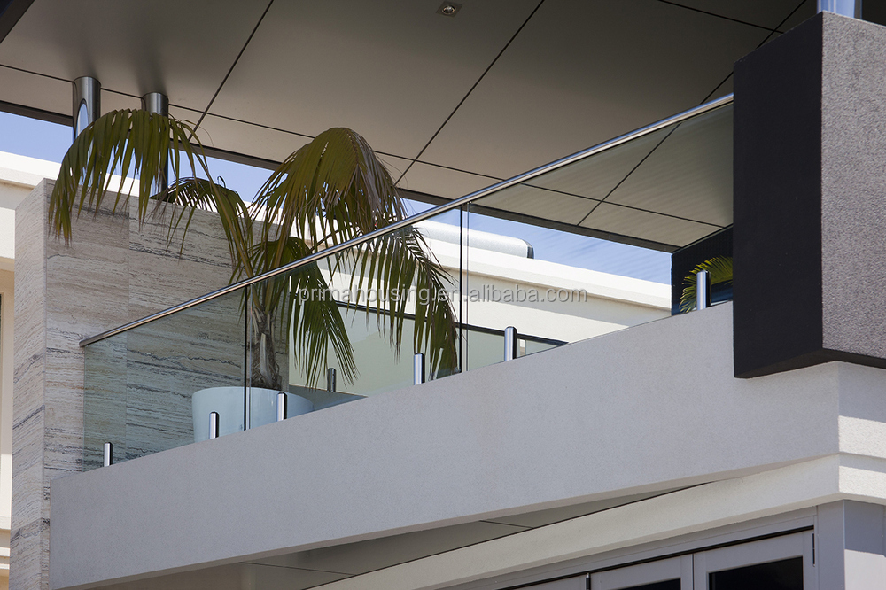 Mm tempered glass deck railing with australia standard