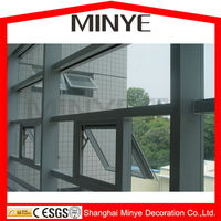 Push up and top hung window used single tempered safety glass