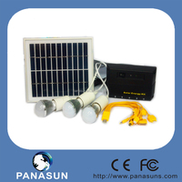 12v Mini solar green lighting systems with LED Light and solar panel