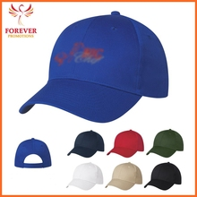 Wholesale Polyester Royal Blue Embroidery Baseball Visor Cap
