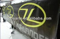 Custom outdoor fence banner