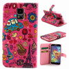 Hot Selling PU Leather Wallet Style Stand Magnetic Flip Case Cover For Samsung Galaxy S5 i9600