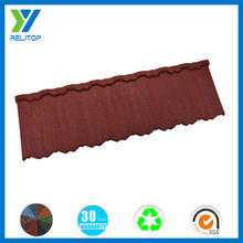 Stone coated durable house roof tile/decorative steel roof tile