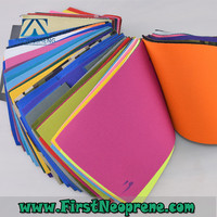 Fashionable 2mm Thickness Polyester Fabric Neoprene Rubber