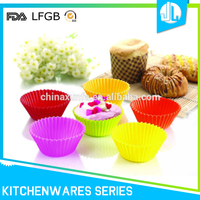 Cheap great manufacture colorful no stick cupcak mold silicon