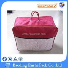 Pvc zipper quilt bag pvc gift bag plastic bag with zipper