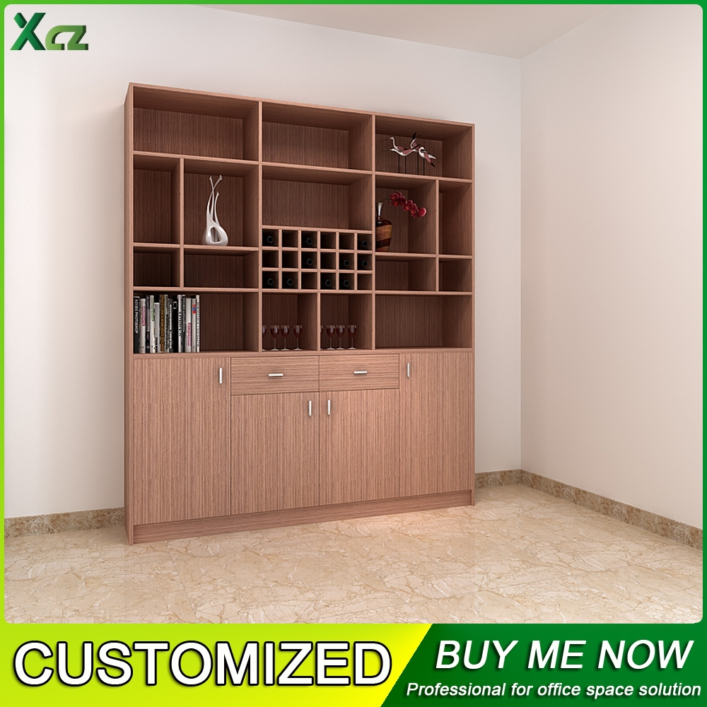 Modern cheap wooden customized cabinet living room design for Cheap living room cabinets