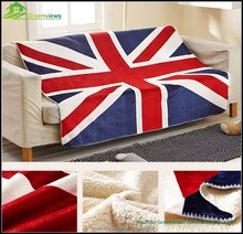 Cheap Wholesale China Sherpa Blankets National Flag Printed TV Blanket,Blanket Flag 100% Polyester GVMT10287