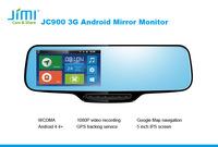 Car Dvr Dual Camera portable dvd player with bluetooth car mirror cover flag