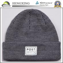 Custom plain beanie cheap knitted beanie