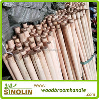 SINOLIN Hot sale natural broom handles wholesale/natural wooden broom handle/natural mop stick