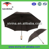 new design promotional two folds umbrella with metal shaft