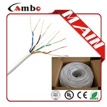 Made In China LSZH/ROHS/PVC UL list ISO9001 lan cable 24awg soild bare copper CMP/CMR/CM cable stp cat 5
