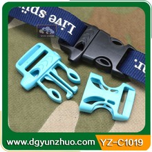 Fashion plastic bag buckle with whistle