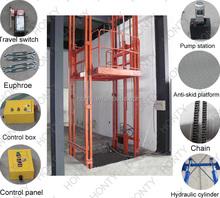 CE&IOS 2 ton wall mounted hydraulic lead rail lift
