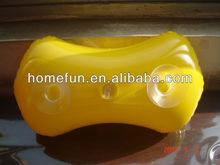 yellow fashion inflatable pvc bath pillow for family