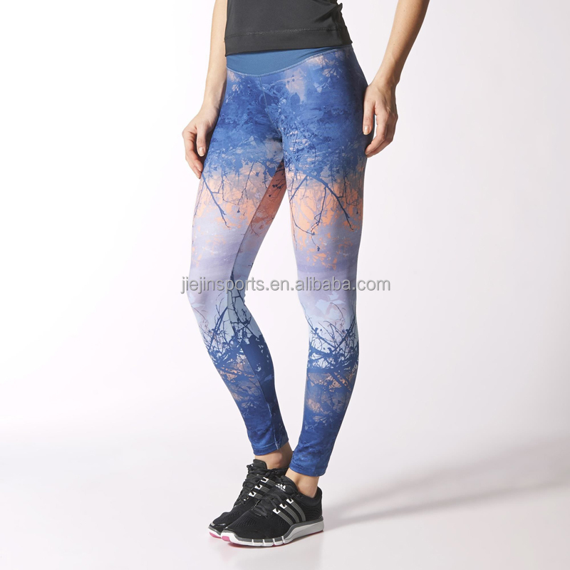 Popular 2015 Hotsale Jogger Pants Printed Leggings Women Yoga Pants Yoga Wear