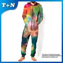Tontos large sublimation frozen pajamas, one piece jumpsuit for men