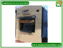 hydraulic foil stamping and embossing machine for pressing leather