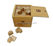 Wood Educational Kids Alphabet Blocks with Wooden Large BoxToy