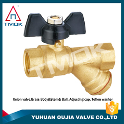 gear operated type ball valve brass ball valve with new bonnet Stainless Steel Stem and Ball and Handle