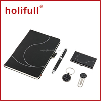 2015 promotion high quality luxury business notebook pen gift set with gift box
