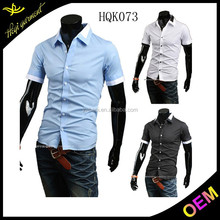 2015 new design brand men dress shirts designed for successful