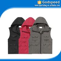 Multi function Outdoor leisure vest pocket Multi function autumn outdoor sell best safety vest with pockets