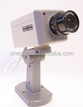 ABS waterproof dummy/fake wifi wireless webcam night vision led ir ip camera w/ blinking red LED light for indoor or outdoor use