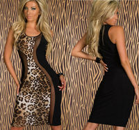 C23531A ROMANTIC STYLE WOMAN SEXY LEOPARD DRESS