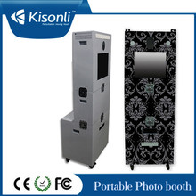 Portátil Photo Booth máquina expendedora con Software / Hiti impresora a tomar hermosas fotos para la boda / partido