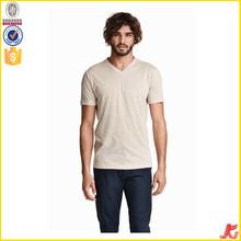 2015 new design v-neck fashion t shirt